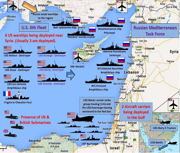 Fleets off Syria